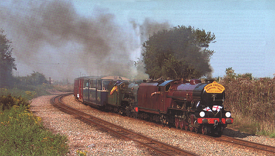 Kevin Crouch Double Header Memorial Train @ the Warren -Jayl on Northern Chief - by T.J.Godden © 2005